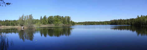 Lake in Sweden Panorama Royalty Free Stock Photo
