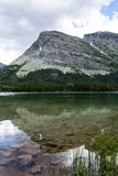 Lake Swiftcurrent in Glacier National Park Stock Image