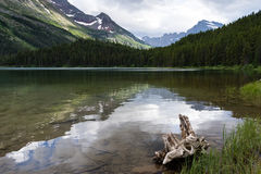 Lake Swiftcurrent in Glacier National Park Stock Photos