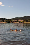 Lake swimming Stock Photo
