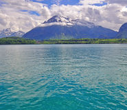 Lake in swiss Alps Stock Photos