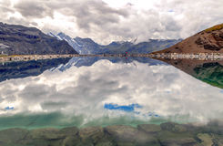 Lake in the swiss Alps Royalty Free Stock Photography