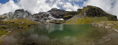 Lake in the Swiss Alps - Wangser See Royalty Free Stock Photography