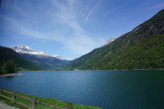 By the lake in Switzerland Stock Image