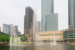 Lake Symphony fountain in Kuala Lumpur Stock Image