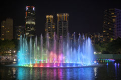 Lake Symphony at KLCC Park Royalty Free Stock Photos