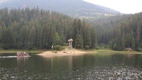 Lake Synevir in Carpathian Mountains, Ukraine stock video