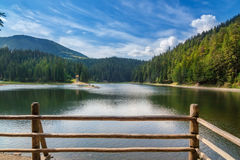 Lake Synevir summer in Ukraine. Stock Photo