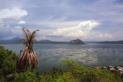 Lake Taal and Volcano Royalty Free Stock Image