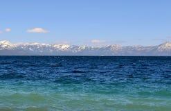 Lake Tahoe加利福尼亚美好的湖视图 库存图片