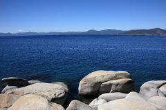 Lake Tahoe. Rocky shoreline of Lake Tahoe in Nevada Royalty Free Stock Photography