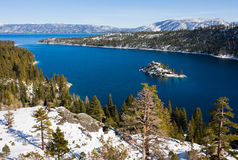 Lake Tahoe. Emerald Bay in winter, Lake Tahoe Royalty Free Stock Photos