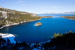Lake Tahoe. Emerald Bay in winter, Lake Tahoe stock photography