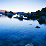 Lake Tahoe. At sunset with blue cast Royalty Free Stock Image