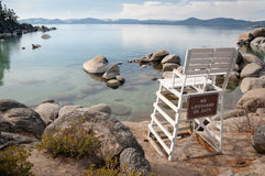 Lake Tahoe. Beautiful landscape during winter time at the Lake Tahoe shore in California Stock Image