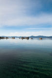 Lake Tahoe. Beautiful landscape during winter time at the Lake Tahoe shore in California Royalty Free Stock Photos