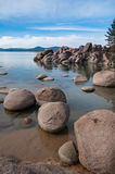 Lake Tahoe. Beautiful landscape during winter time at the Lake Tahoe shore in California Royalty Free Stock Photography