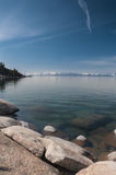 Lake Tahoe. Beautiful landscape during winter time at the Lake Tahoe shore in California Royalty Free Stock Image