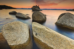 Lake Tahoe após o nascer do sol Fotos de Stock Royalty Free