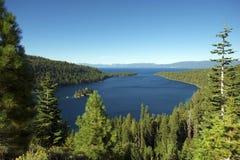 Lake Tahoe Bay. Lake and Mountains. Sierra Nevada Mountains California, USA Stock Image