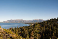 Lake tahoe beach. In Midday Stock Photos
