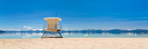Free Lake Tahoe Beach Panorama Royalty Free Stock Images - 55210629