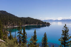 Lake Tahoe. Beautiful day at Lake Tahoe, clear blue water reflecting the blue sky Royalty Free Stock Photo