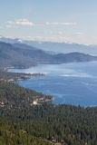 Lake Tahoe. Beautiful day at Lake Tahoe, clear blue water reflecting the blue sky Royalty Free Stock Photography