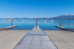 Lake Tahoe Boat Pier Royalty Free Stock Photo