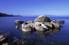 Lake Tahoe boulders royalty free stock image