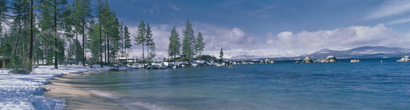 Lake Tahoe, CA after a snow Royalty Free Stock Photos