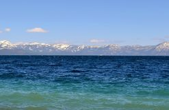Lake Tahoe California Beautiful Lake View. Lake Tahoe California - Beautiful view across the lake with mountains stock image
