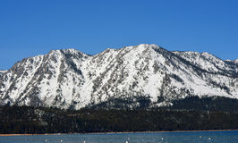Lake Tahoe, California. The majestic, snow-capped mountains surrounding Lake Tahoe, California Stock Photos