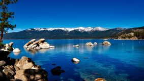 Lake Tahoe, California, Mountain Royalty Free Stock Photos