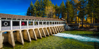 Lake Tahoe Dam Stock Image