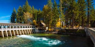 Lake Tahoe Dam royalty free stock photo