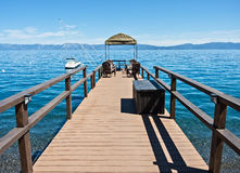 Lake Tahoe dock Stock Images
