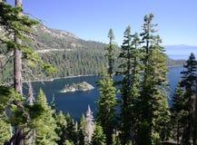 Lake Tahoe donnent sur Photographie stock