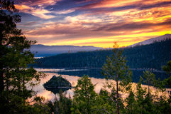 Lake Tahoe at dusk Royalty Free Stock Photos