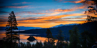 Lake Tahoe at dusk Stock Photography