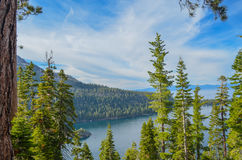 Lake Tahoe. Emerald bay in lake Tahoe, CA Stock Photos