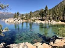 Lake Tahoe. The emerald green waters of Lake Tahoe royalty free stock photos