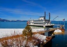 Lake Tahoe en el invierno imágenes de archivo libres de regalías