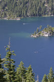 Lake Tahoe and Fannette Island Overlook Stock Photos