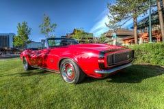 Lake Tahoe himla- Car Show royaltyfri fotografi