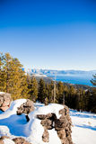Lake Tahoe im Winter Lizenzfreies Stockfoto