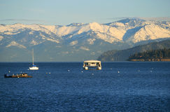 Lake Tahoe im Winter Stockfotos