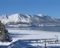 Lake Tahoe in inverno 1 Immagine Stock Libera da Diritti