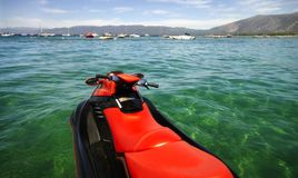 Lake Tahoe Jetski Stock Photo