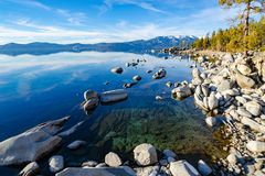 Lake Tahoe la Californie photos libres de droits
